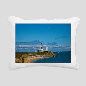 Montauk Point Lighthouse Rectangular Canvas Pillow