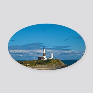 Montauk Point Lighthouse Oval Car Magnet