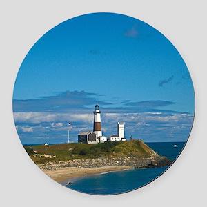 Montauk Point Lighthouse Round Car Magnet