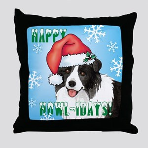 Holiday Border Collie Throw Pillow