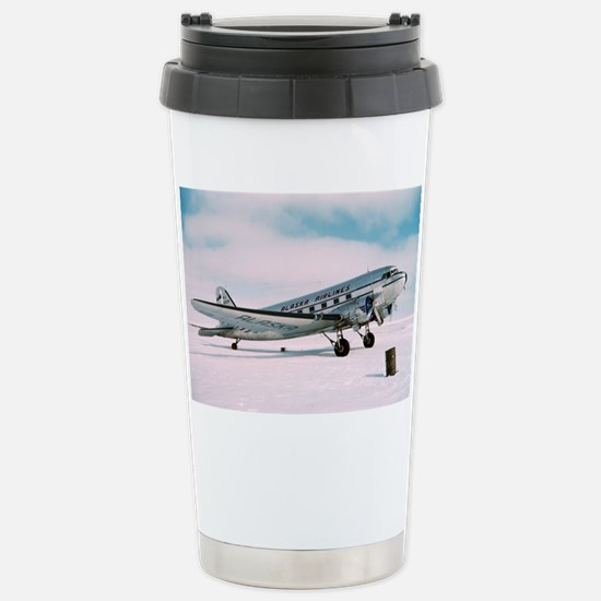 Vintage Alaska Airlines Stainless Steel Travel Mug