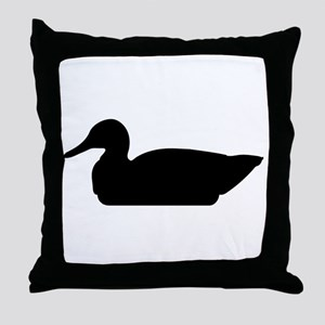 Duck Silhouette Throw Pillow
