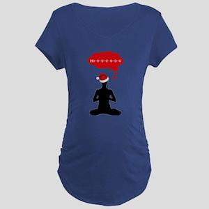 Christmas Yoga Maternity T-Shirt
