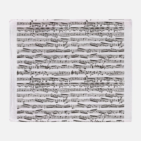 Unique Musical note Throw Blanket
