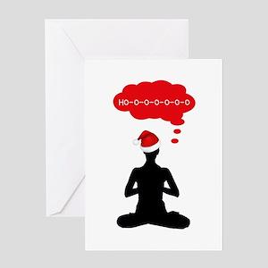 Christmas Yoga Greeting Cards