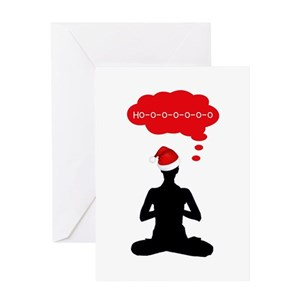 Yoga greeting cards cafepress m4hsunfo