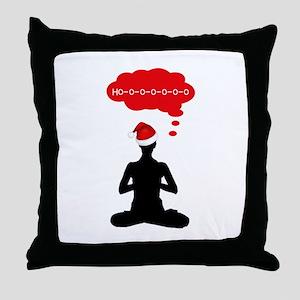 Christmas Yoga Throw Pillow