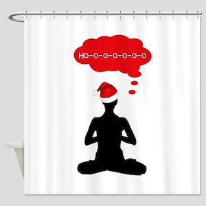 Christmas Yoga Shower Curtain