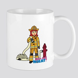 Firefighter Woman Light/Red Mug