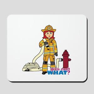 Firefighter Woman Light/Red Mousepad