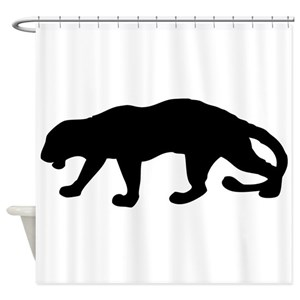 black panther animal shower curtains cafepress