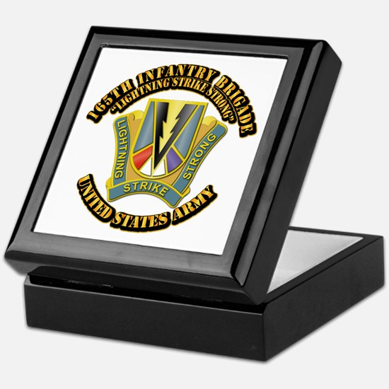 DUI - 165th Infantry Bde with Text Keepsake Box