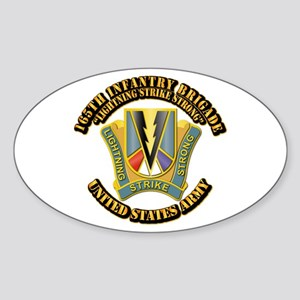 DUI - 165th Infantry Bde with Text Sticker (Oval)