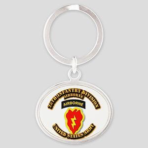 Army - 25th ID - Airborne Oval Keychain