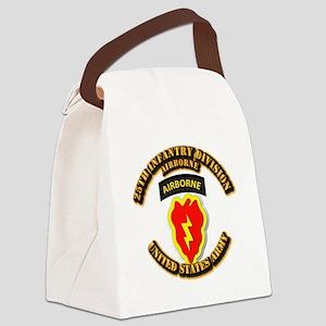 Army - 25th ID - Airborne Canvas Lunch Bag