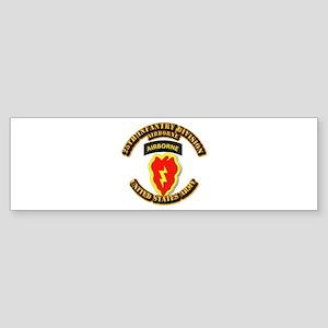 Army - 25th ID - Airborne Sticker (Bumper)