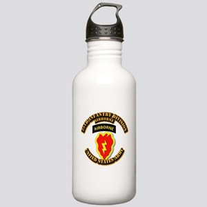 Army - 25th ID - Airborne Stainless Water Bottle 1