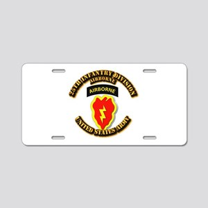 Army - 25th ID - Airborne Aluminum License Plate