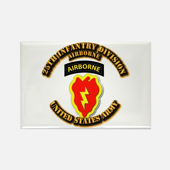 Army - 25th ID - Airborne Rectangle Magnet