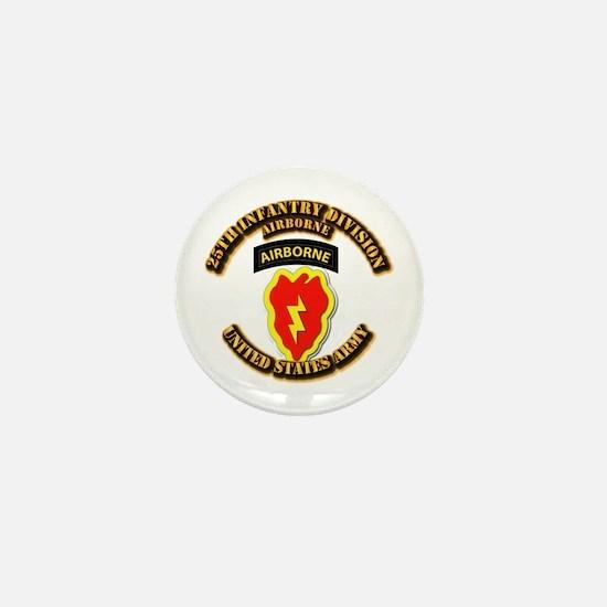 Army - 25th ID - Airborne Mini Button