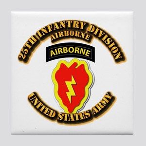Army - 25th ID - Airborne Tile Coaster