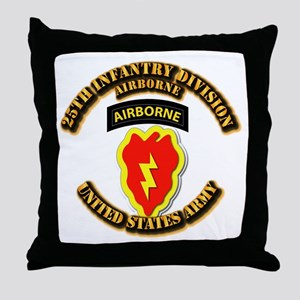 Army - 25th ID - Airborne Throw Pillow