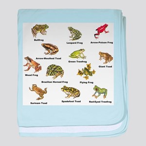 Frog and Toad Types baby blanket