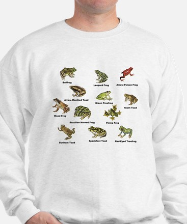 Frog and Toad Types Sweatshirt