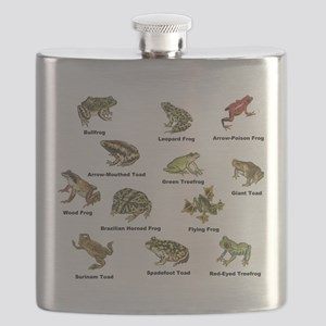 Frog and Toad Types Flask