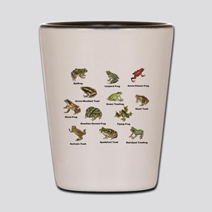 Frog and Toad Types Shot Glass