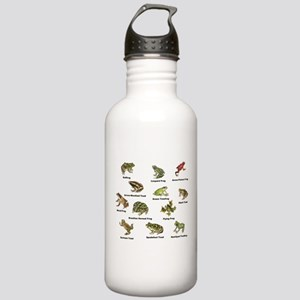 Frog and Toad Types Water Bottle