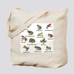 Frog and Toad Types Tote Bag