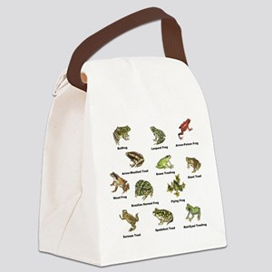Frog and Toad Types Canvas Lunch Bag