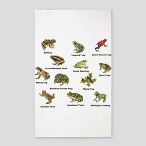 Frog and Toad Types 3'x5' Area Rug
