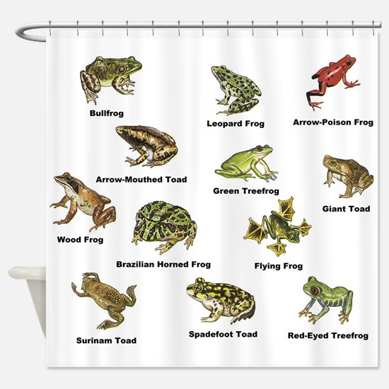 Frog and Toad Types Shower Curtain