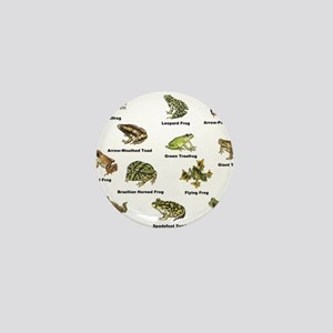 Frog and Toad Types Mini Button