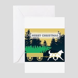 siberian husky christmas greeting cards - Xmas Greeting Cards