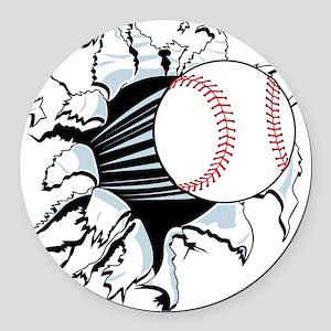 Breakthrough Baseball Round Car Magnet