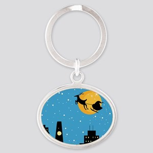 NIGHT BEFORE CHRISTMAS Oval Keychain