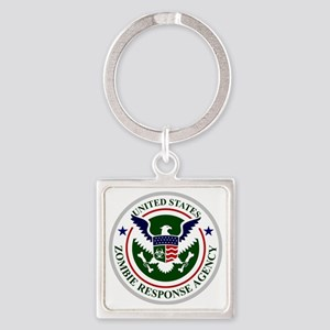 US Zombie Response Agency Square Keychain