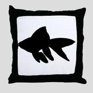 Goldfish Silhouette Throw Pillow