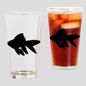 Goldfish Silhouette Drinking Glass