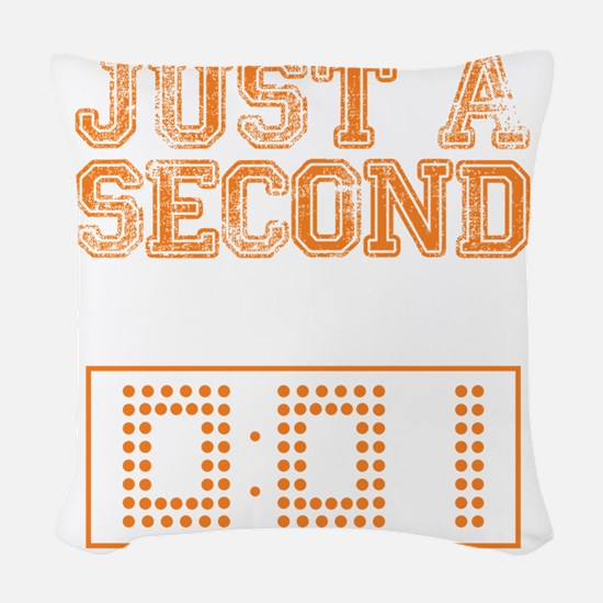 JUST A SECOND [WAR EAGLE!] Woven Throw Pillow