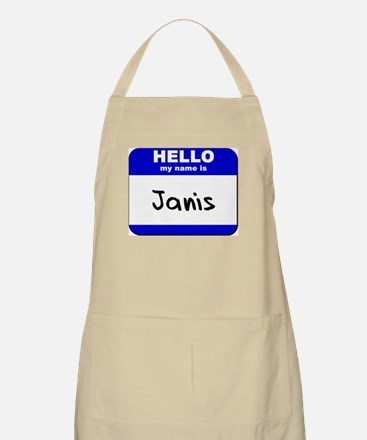 hello my name is janis  BBQ Apron