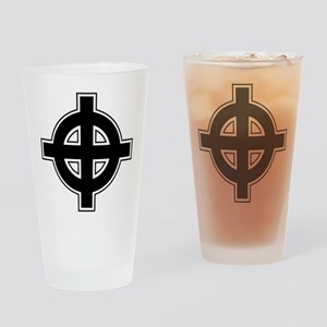 Celtic Cross Square Drinking Glass