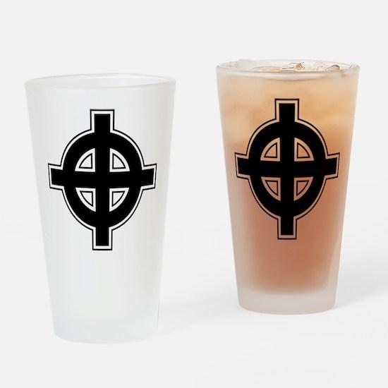 Celtic Cross Square Drinking Glass