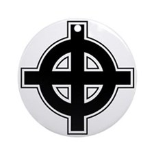 Celtic Cross Square Ornament (Round)
