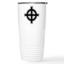 Celtic Cross Square Stainless Steel Travel Mug