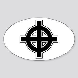 Celtic Cross Square Sticker (Oval)