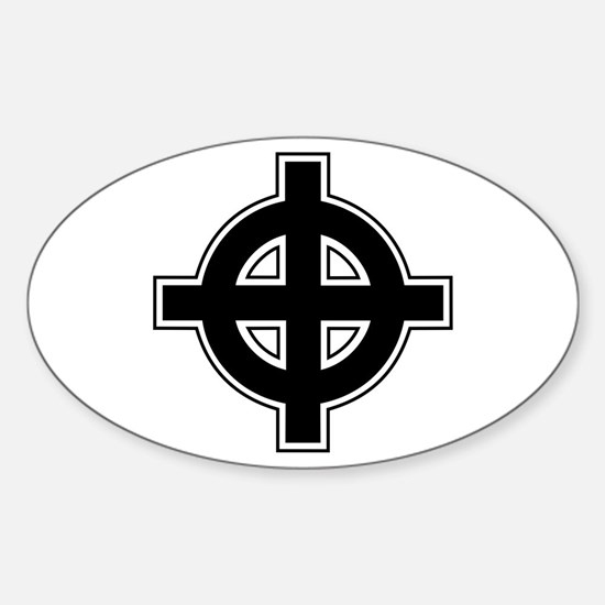 Celtic Cross Square Sticker (Oval)